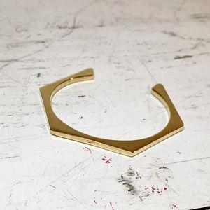 Jcrew Hexagon Bangle Bracelet Gold Tone
